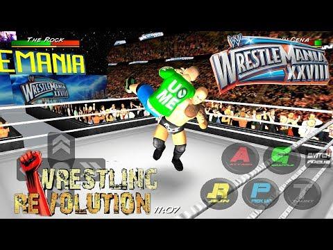 John Cena vs  The Rock(WM28) - WRESTLING REVOLUTION 3D