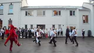 preview picture of video 'Cardiff Morris dance Idbury Hill at a wedding in Winford Manor, 7th September 2013.'