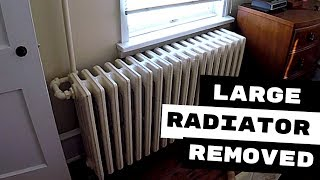 HOW TO DISMANTLE LARGE HYDRONIC RADIATORS FOR EASY REMOVAL