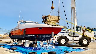 Pulling the MASSIVE Diesel Engines From My 30yr Old Italian Yacht
