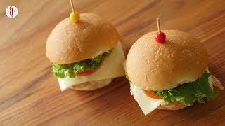 Mini Chicken Burger Recipe By Food Fusion Kids