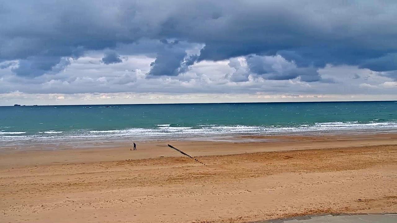 Webcam avec vue sur la plage de Saint-Malo au niveau des thermes marins