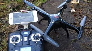 Обзор квадрокоптер  Syma X5SW  FPV Wi-Fi 2.4Ghz Quadcopter Flight Camera Video Review