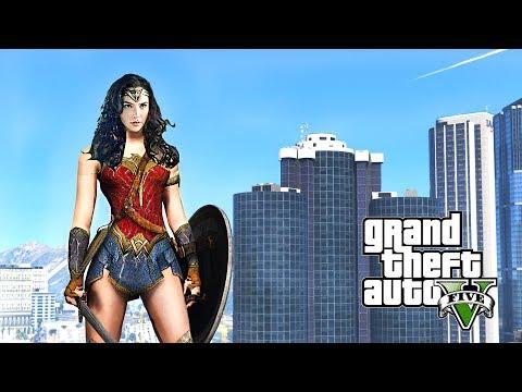 WONDER WOMAN MOD IN GTA 5!! - TheJMC - Video - Free Music Videos