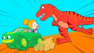 Baby dinosaur is lost! - Groovy The Martian educational cartoon for children & nursery rhymes