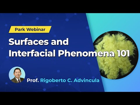 Surfaces and Interfacial Phenomena