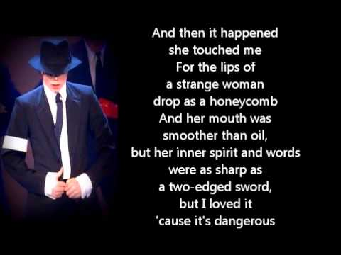 Michael Jackson - Dangerous (Lyrics)