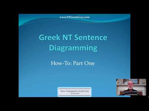 Greek NT Sentence Diagramming: How-To, Part 1