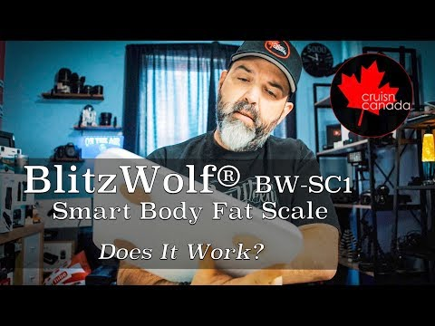 BlitzWolf BW-SC1 WiFi Smart Body Fat Scale Unboxing and Review