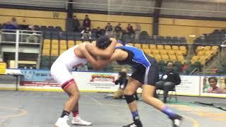 Montclair's Jaala Williams wrestles in the Essex County Tournament