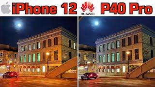 iPhone 12 VS Huawei P40 Pro Camera Comparison!