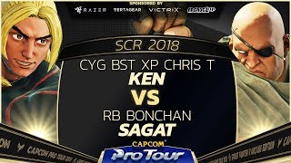 CYG BST XP Chris T (Ken) vs RB Bonchan (Sagat) - SCR 2018 Top 8 - CPT 2018