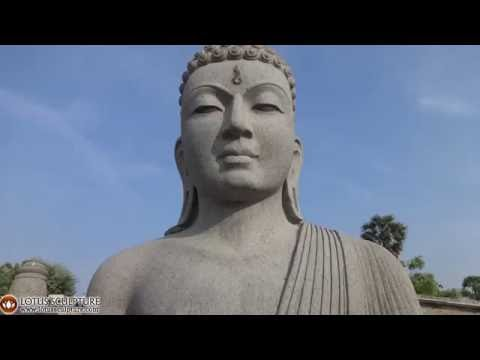 Huge Granite Meditating Buddha Garden 108