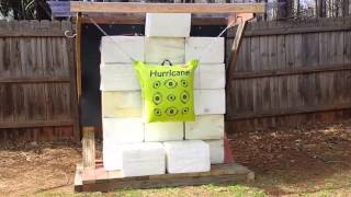 Make Your Own Archery Backstop With Horse Stall Mat