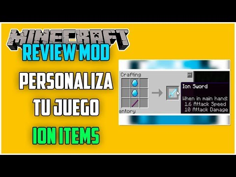 REVIEW !! ION ITEMS - MOD Para MINECRAFT 1.12.2 - Personaliza Tu Juego [#18]