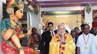 PM Modi offers prayers at Sri Mariamman Temple in Singapore  IMAGES, GIF, ANIMATED GIF, WALLPAPER, STICKER FOR WHATSAPP & FACEBOOK