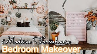 DIY GIRLS BEDROOM MAKEOVER ON A BUDGET | Decorating Ideas | Modern Farmhouse Bedroom | Bedroom DIY