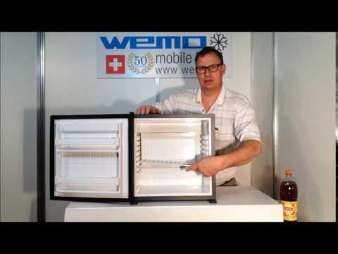 WEMO Minibar 250 P I  Deutsch / kleiner Kühlschrank lautlos Hotel Zimmer