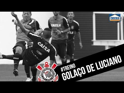 Golaço de Luciano no treino do Corinthians