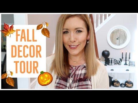 FALL DECOR HOUSE TOUR 2018 🎃🍂🍁💀🕷🕸 | NEW HALLOWEEN + AUTUMN DECORATIONS UPDATE! |  Brianna K