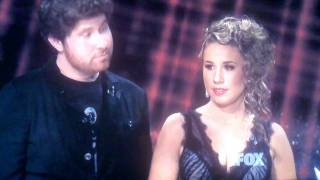 Casey Abrams says I Love You to Haley Reinhart on American Idol