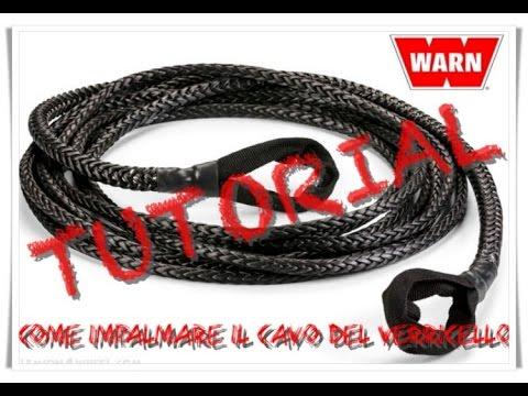 """Impalmare cavo tessile verricello """"winch rope"""""""
