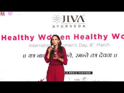 महिला दिवस पर डॉ. महिमा बक्शी द्वारा जीवा आयुर्वेद में दिया गया व्याख्यान