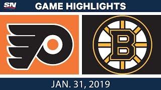 NHL Highlights | Flyers vs. Bruins - Jan. 31, 2019