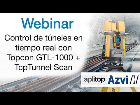 Control de túneles en tiempo real con Topcon GTL 1000 + TcpTunnel Scan 1
