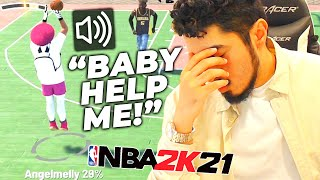 I tried carrying my girlfriend to wins in NBA 2K21 (HILARIOUS)