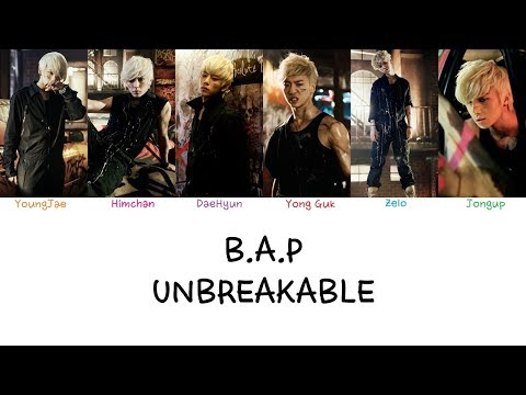 B.A.P - Unbreakable (Color coded lyrics Han|Rom|Eng)