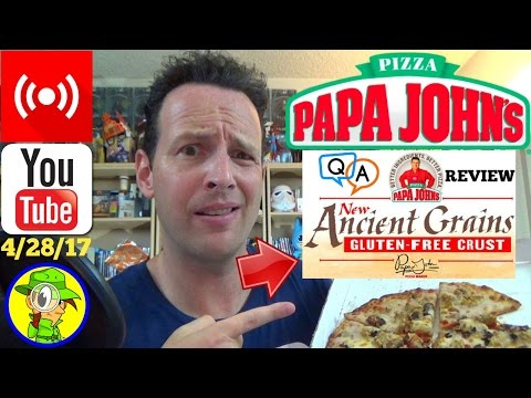 Papa John's® Ancient Grains Pizza Review and Q&A! 🔴 LIVE STREAM REPLAY 4/28/17 🍕🎙️💬