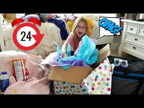 24 Hours OVERNIGHT In My SISTER'S Room!!!