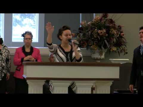 Cornerstone Apostolic Wentzville Aleisha Tutterrow Singing I Go To The Rock 2011 09 18 Sunday AM