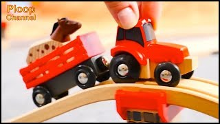 Horsey's TOY TRACTOR TRIP! - Brio Toys & Choo-Choo Trains Compilation. Learning videos for kids