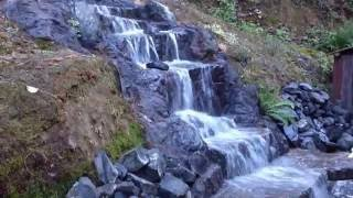 12 Foot Homemade Waterfall, Home Made From Concrete !