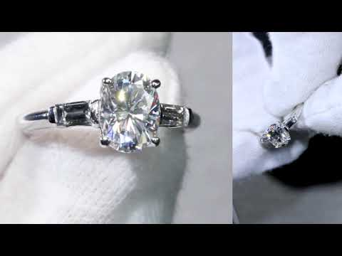 Custom F1 Oval Moissanite Solitaire ring from 7/28/17