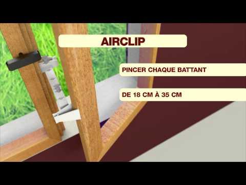 Airclip Entrebailleur de fenêtre
