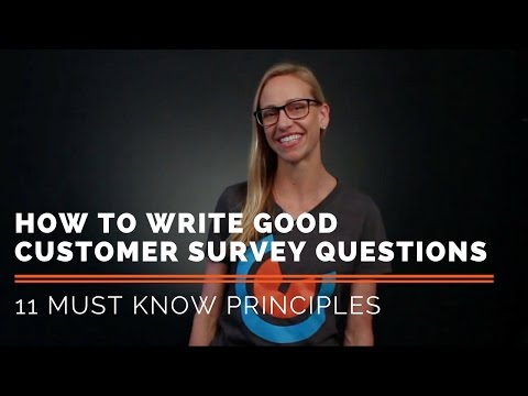 , title : '11 Principles for How to Write Good Customer Survey Questions