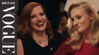 Sophie Turner And Jessica Chastain Join Vogue For Dinner   British Vogue