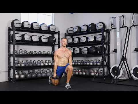 Dumbbell alternating reverse lunge with lateral raise