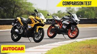 BajajPulsarRS200VSKTMRC200|ComparisonTest|AutocarIndia