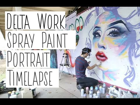 portrait spray painting timelapse by david puck