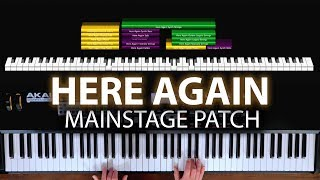 Download Here Again MainStage patch keyboard cover