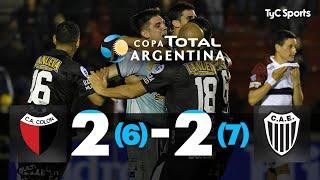 ¡ESTUDIANTES DE BUENOS AIRES A SEMIS! Eliminó a Colón de Santa Fe por penales y está entre los mejores cuatro de la Copa Argentina. Fue después de igualar 2-2 en los 90 minutos. Ahora, se enfrentarán a River. #CopaArgentinaEnTyCSports