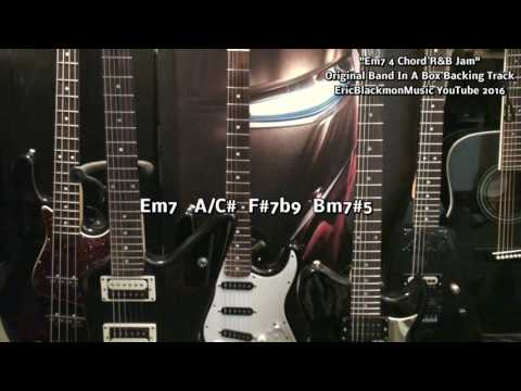 Em7 Four Guitar Chord R&B Jam Backing Track Band In A Box EEMusicLIVE