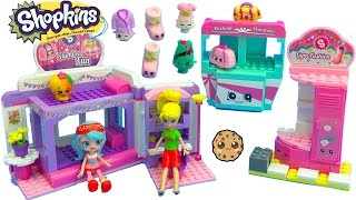 Shoppies Jessicake & Polly Pocket Go To Shopkins Slumber Party Fun Kinstructions Playset