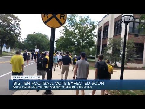 Big Ten football vote expected soon