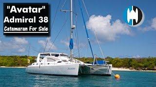 "Walkthrough of a 2010 Admiral 38 Sailing Catamaran   ""Avatar"" FOR SALE IN GRENADA"