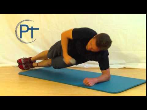 Side Plank to Dumbbell Reach Under